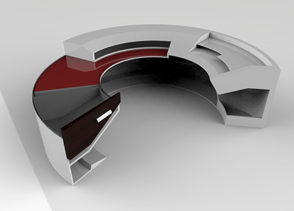 3DOcean Arc Desk 6747590