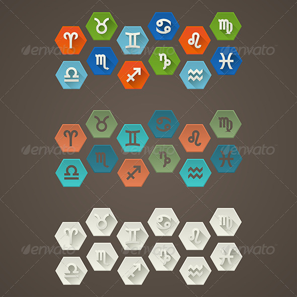 GraphicRiver Flat Signs of The Zodiac 6748038