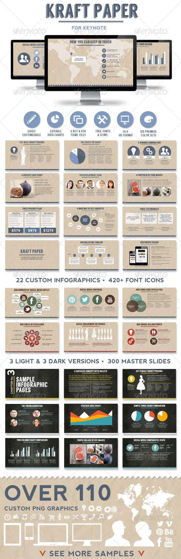 GraphicRiver Kraft Paper KeynotePresentation Template 6748850