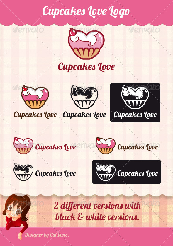 GraphicRiver Cupcakes Love Logo 6737635