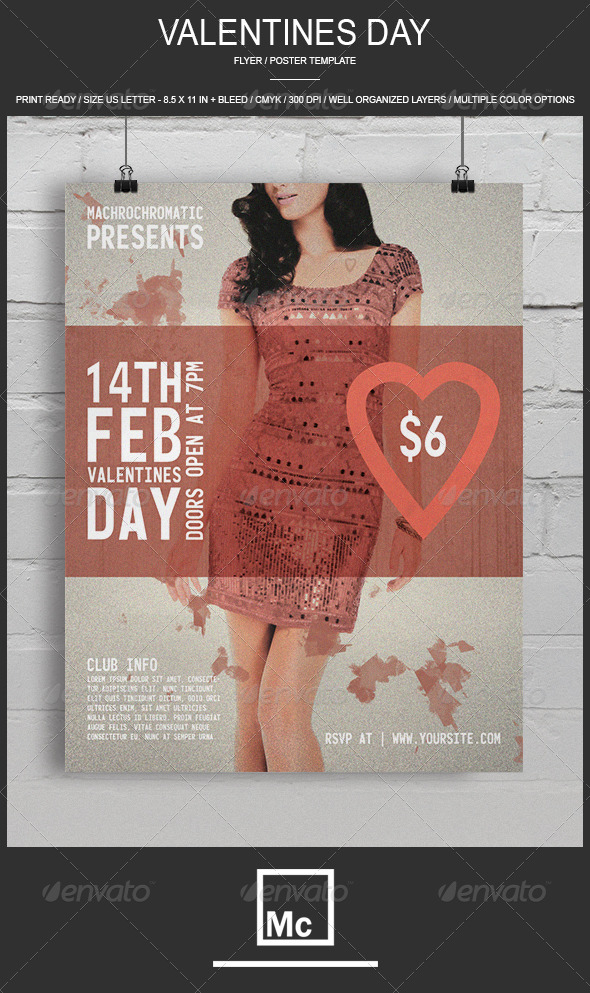 GraphicRiver Valentines Day Flyer 6748012