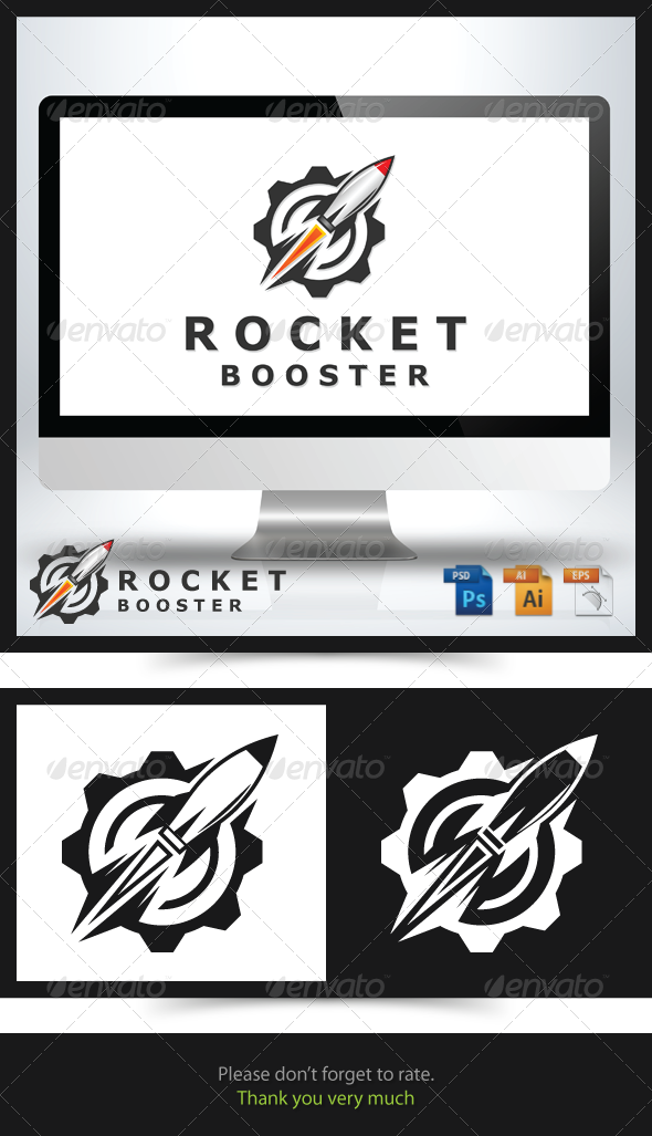 GraphicRiver Rocket Booster Logo 6739096
