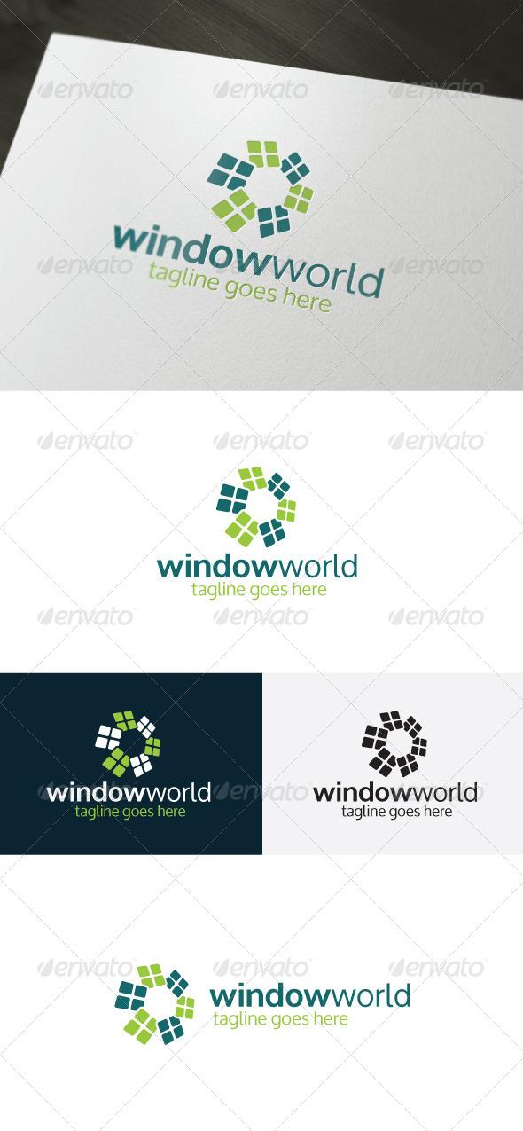 GraphicRiver Window World Logo 6750205