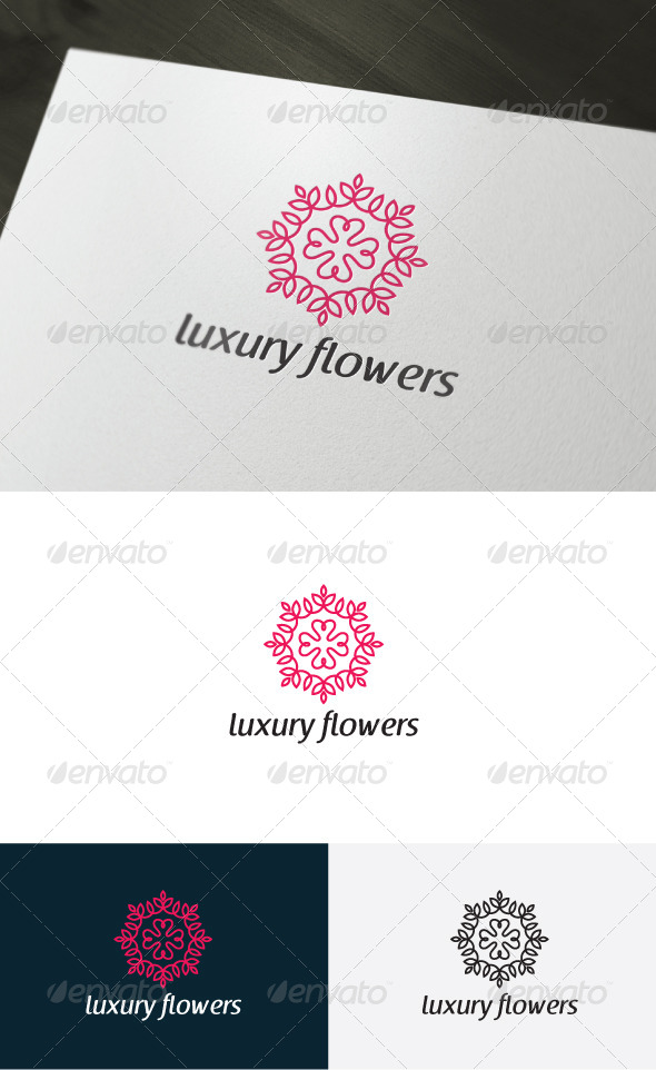 GraphicRiver Luxury Flowers Logo 6750400
