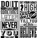 Set of Typographic Motivational Quotes - GraphicRiver Item for Sale