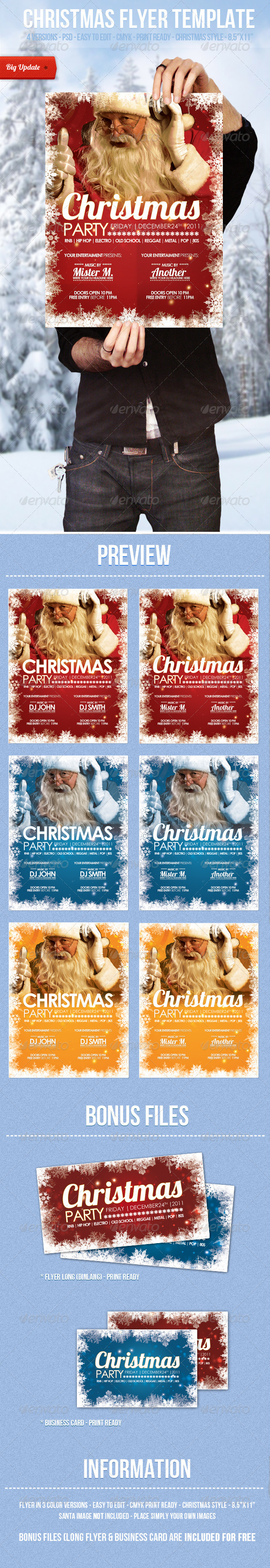 GraphicRiver Christmas Flyer Template 553296