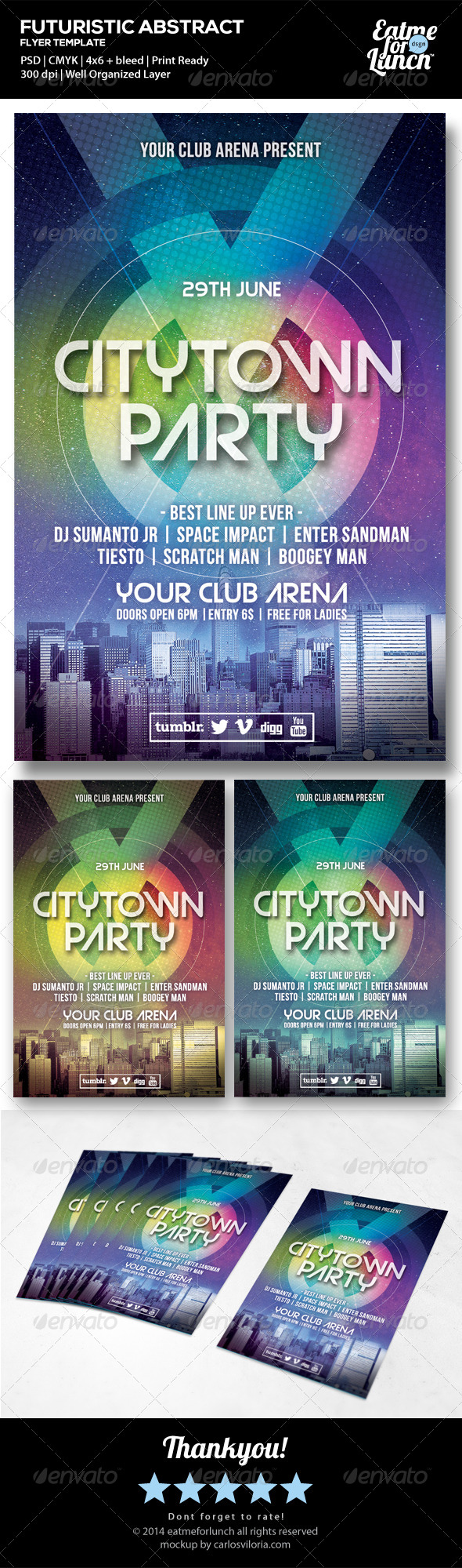GraphicRiver Futuristic Dance Club Music Flyer Templates 6752364