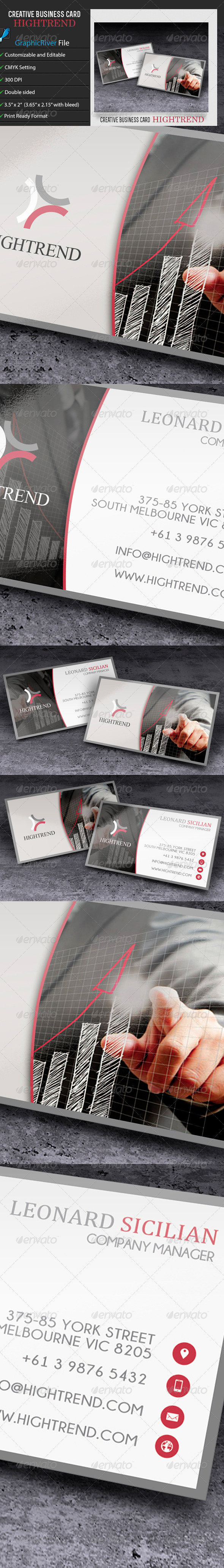 GraphicRiver Corporate Business Card Hightrend 6752379