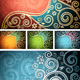 Floral Multi-Coloured Backgrounds - GraphicRiver Item for Sale