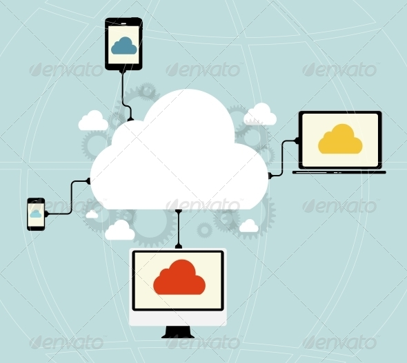 GraphicRiver Cloud Computing Concept 6753900