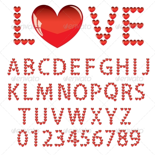 GraphicRiver Love Alphabet 6755519