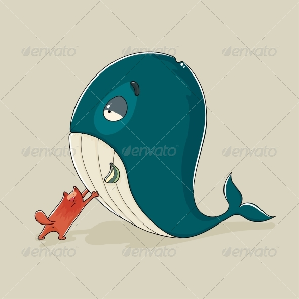 GraphicRiver Cat with a Whale 6755600
