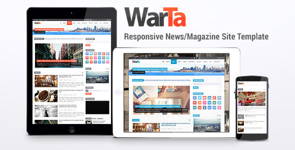 Warta - News/Magazine Site Template - Corporate Site Templates