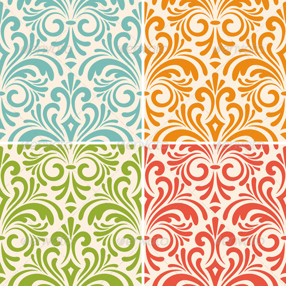 GraphicRiver Seamless Floral Patterns 6756017