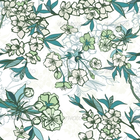 GraphicRiver Seamless Floral Pattern 6756079