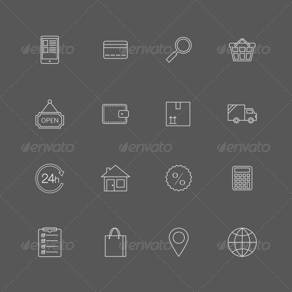GraphicRiver Internet Shopping Icons 6756081