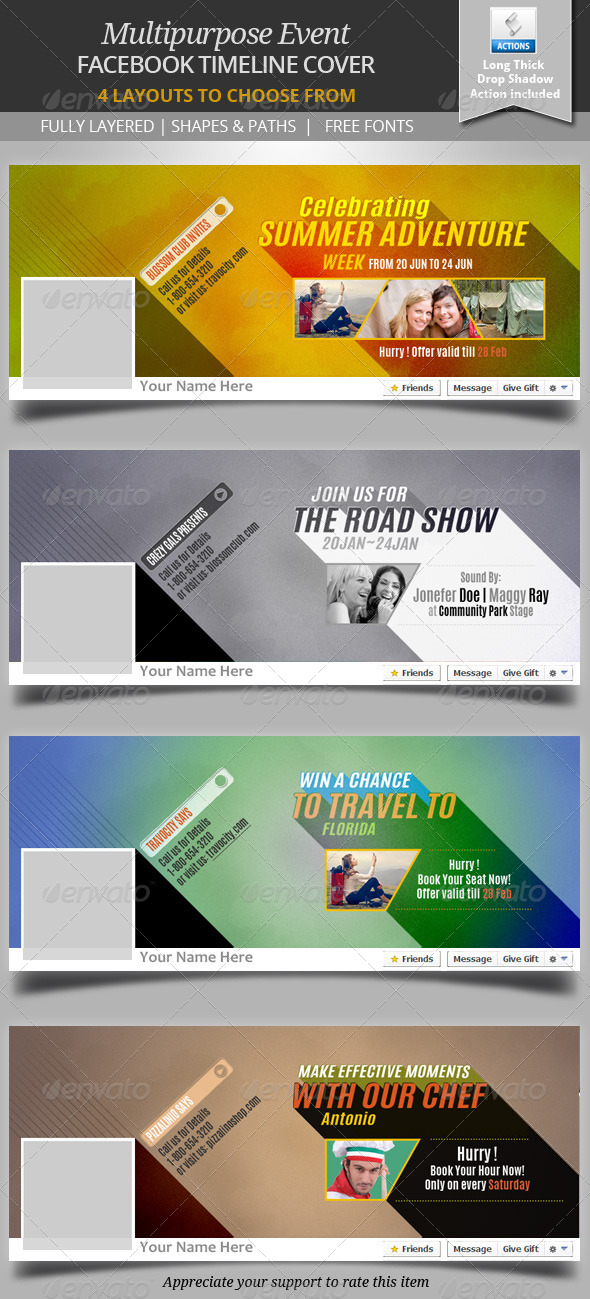 GraphicRiver Multipurpose Event Facebook Timeline Cover 6756841