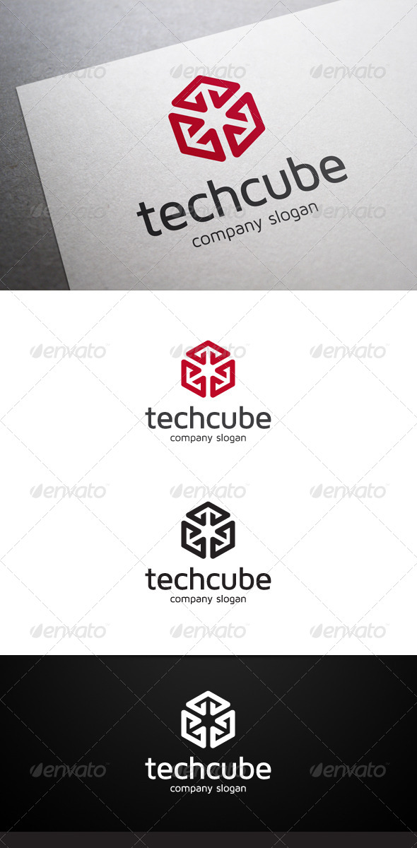 GraphicRiver Tech Cube Logo 6756923
