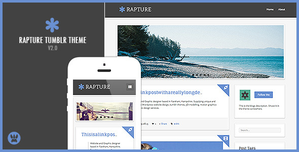 Rapture - A Responsive Tumblr Theme