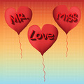 love balloon Mister and miss - PhotoDune Item for Sale