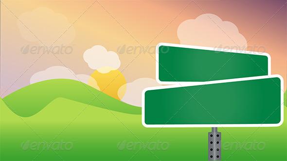 GraphicRiver Landscape with Bill Board 6693299