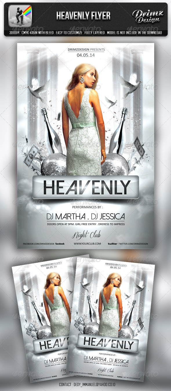 GraphicRiver Heavenly Party Flyer 6757320
