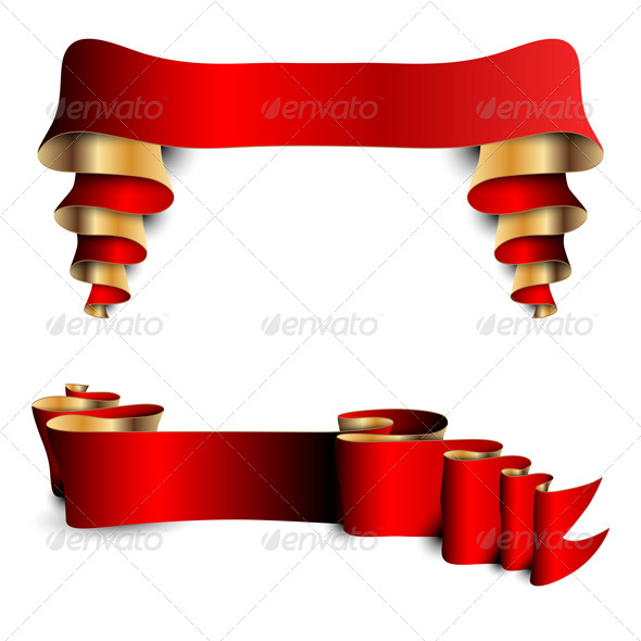 GraphicRiver Two Red Ribbons 6757419