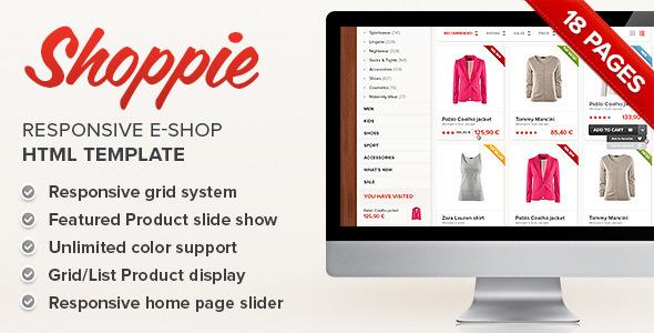 ThemeForest Shoppie Responsive E-Shop HTML Template 6539404