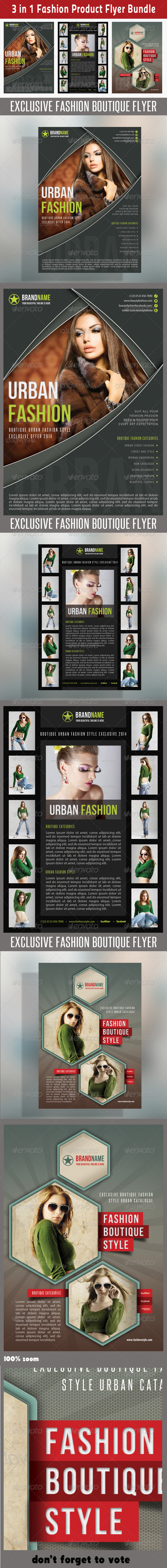 GraphicRiver 3 in 1 Fashion Product Flyer Bundle 12 6757912