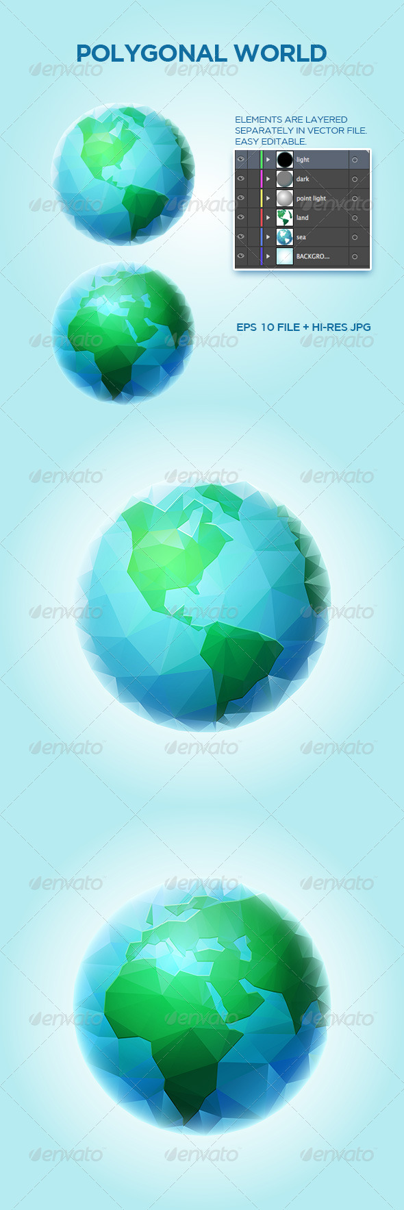 GraphicRiver Polygonal World Sphere 6757939