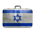 Vintage travel bag with flag of Israel - PhotoDune Item for Sale