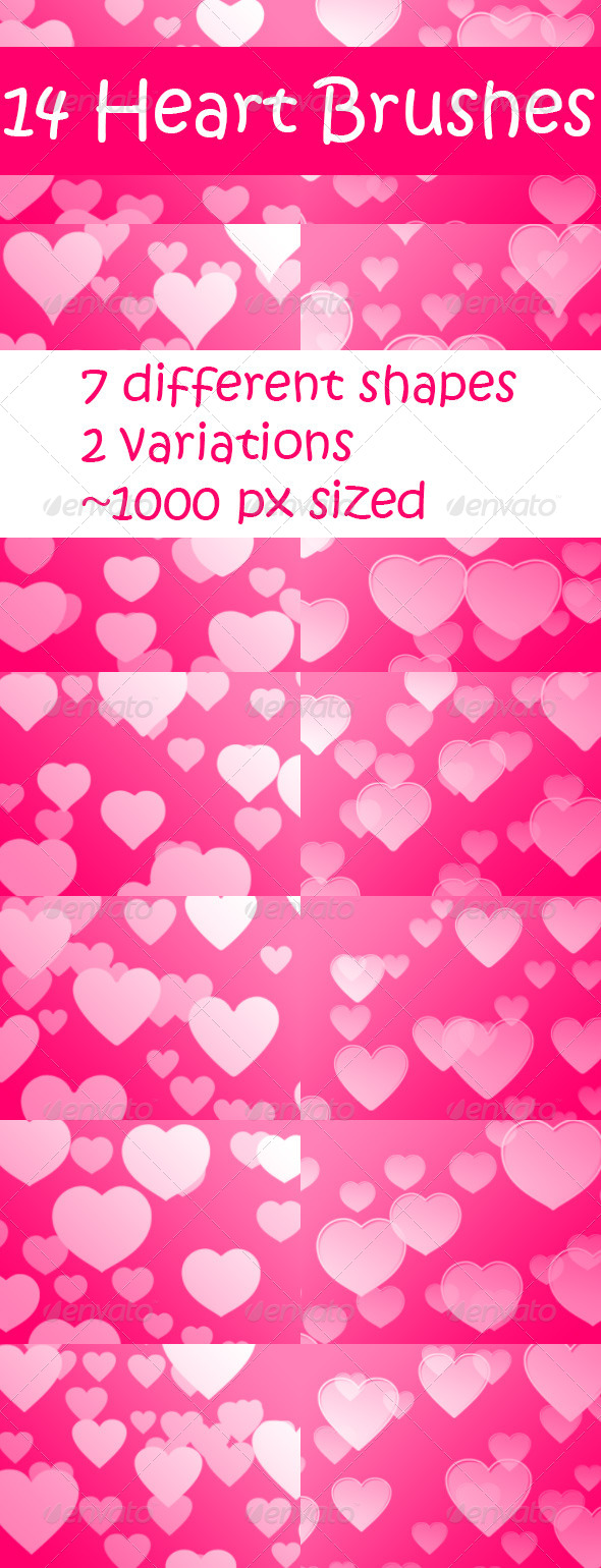 GraphicRiver Hearts Brushes 01 6744055