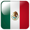 Glossy icon with flag of Mexico - PhotoDune Item for Sale