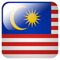 Glossy icon with flag of Malaysia - PhotoDune Item for Sale