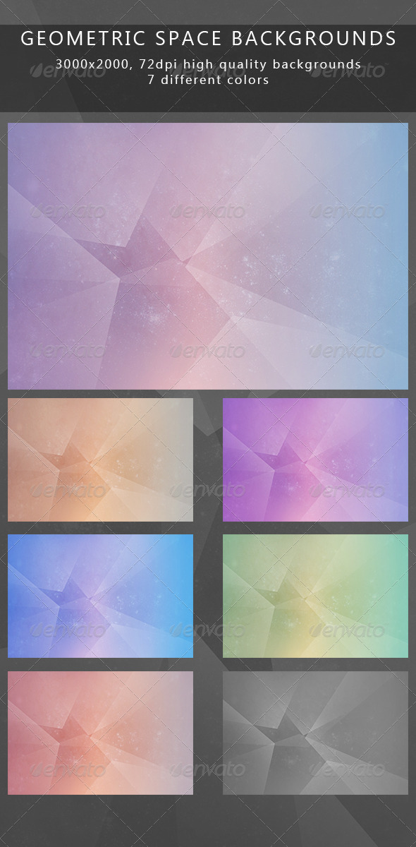 GraphicRiver Geometric space backgrounds 6758288