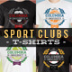 Premium Sports Clubs T-Shirt Templates v9 - GraphicRiver Item for Sale