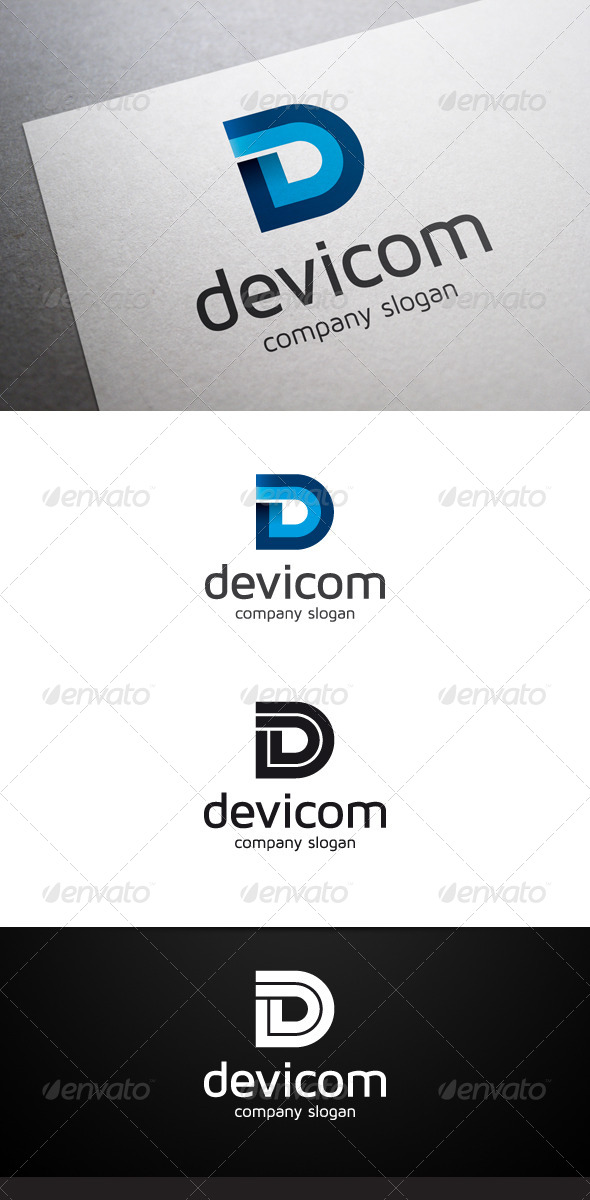GraphicRiver Devicom D Letter Logo 6760537