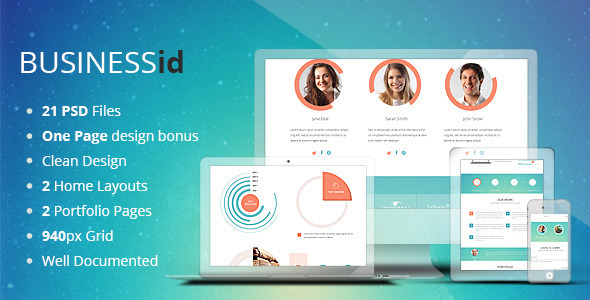 ThemeForest BUSINESSid Multipurpose Business PSD Template 6761007