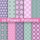Seamless Flower Patterns - GraphicRiver Item for Sale