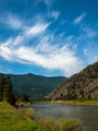 Wide Mountain River Cuts a Valley - Clark Fork River Montana USA - PhotoDune Item for Sale