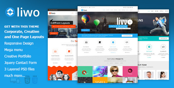 ThemeForest liwo Responsive MultiPurpose HTML5 Template 6686323