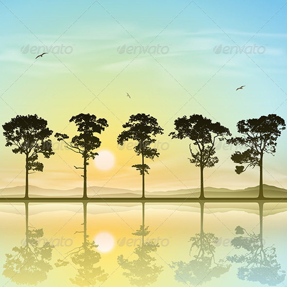 GraphicRiver A Line of Trees 6762338