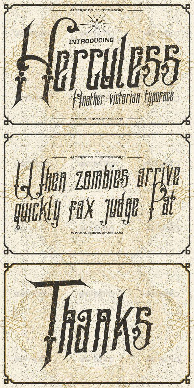 GraphicRiver Hercules typeface 6762349