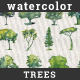 Collection of 44 Watercolor Trees - GraphicRiver Item for Sale