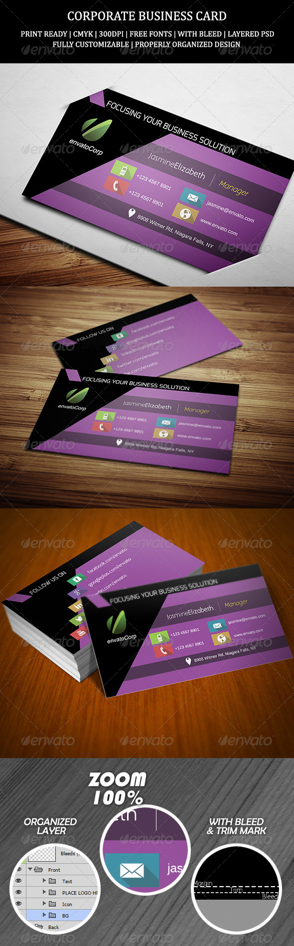 GraphicRiver Corporate Business Card 11 6763097