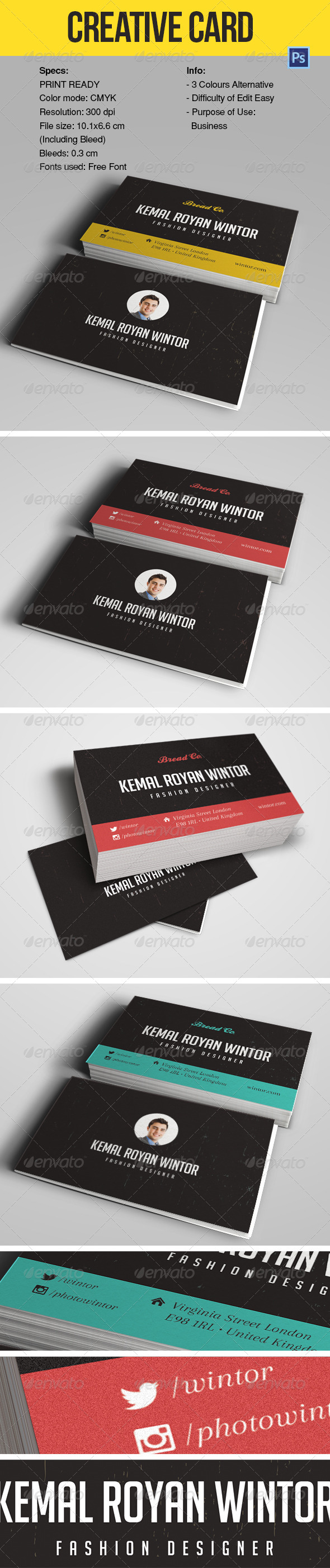 GraphicRiver Business Card Design 6730579
