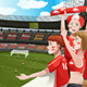 Sports Fans in a Stadium - GraphicRiver Item for Sale