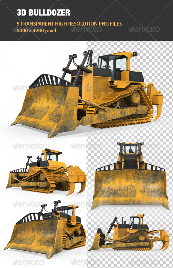 GraphicRiver 3D Bulldozer 6764831
