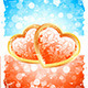 Valentine's Day Background with Floral Hearts - GraphicRiver Item for Sale