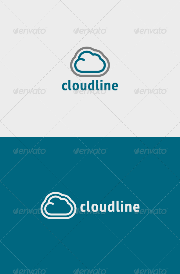 GraphicRiver Cloud Line Logo 6765607
